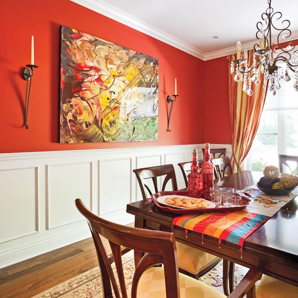 relief de campagne dans la salle manger salle manger inspirations d coration et. Black Bedroom Furniture Sets. Home Design Ideas