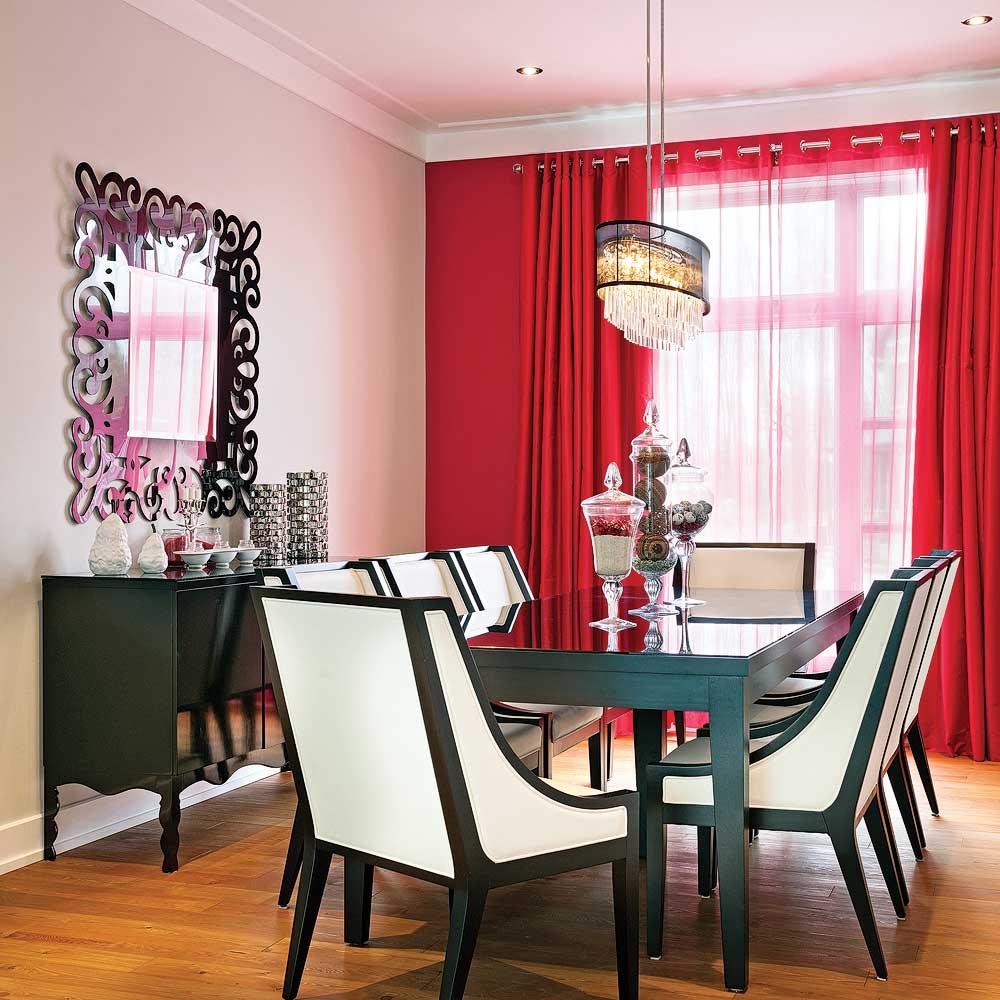 Salle manger glamour salle manger inspirations - Couleur pour une salle a manger ...
