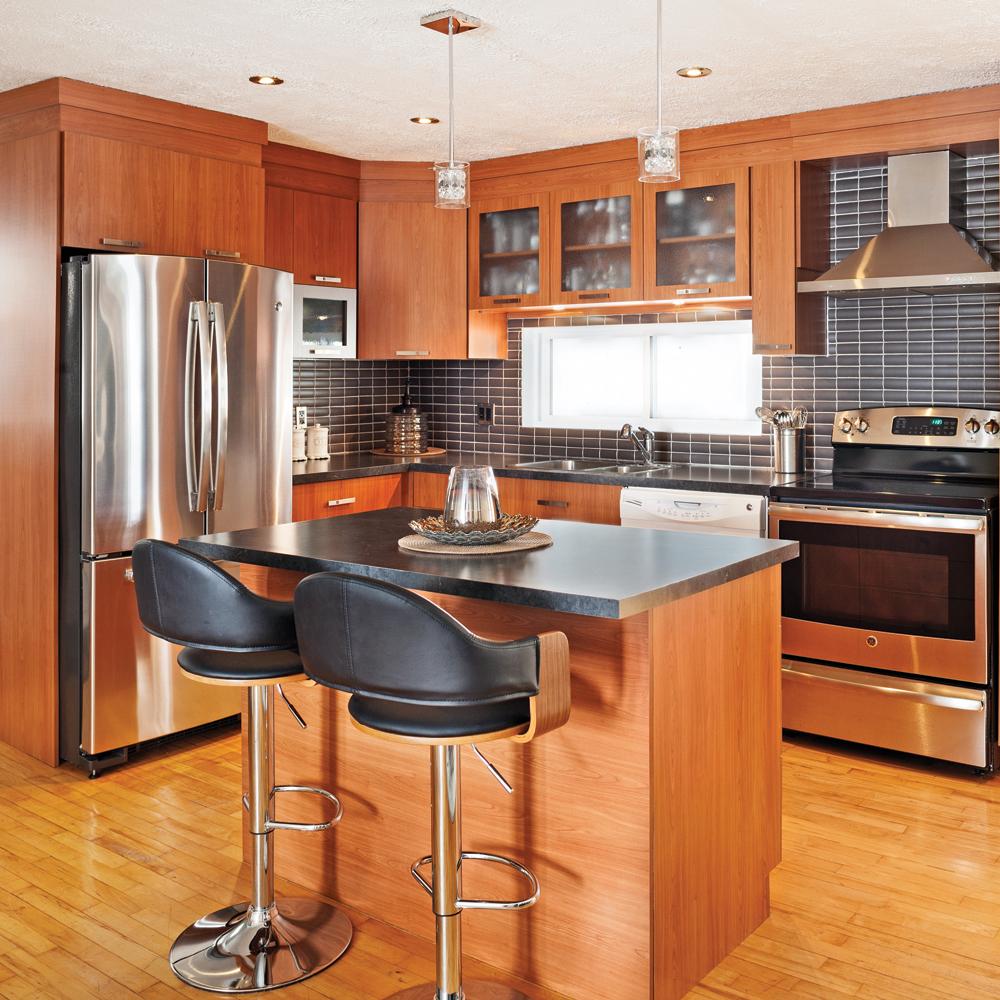 une cuisine chaleureuse et moderne cuisine avant apr s