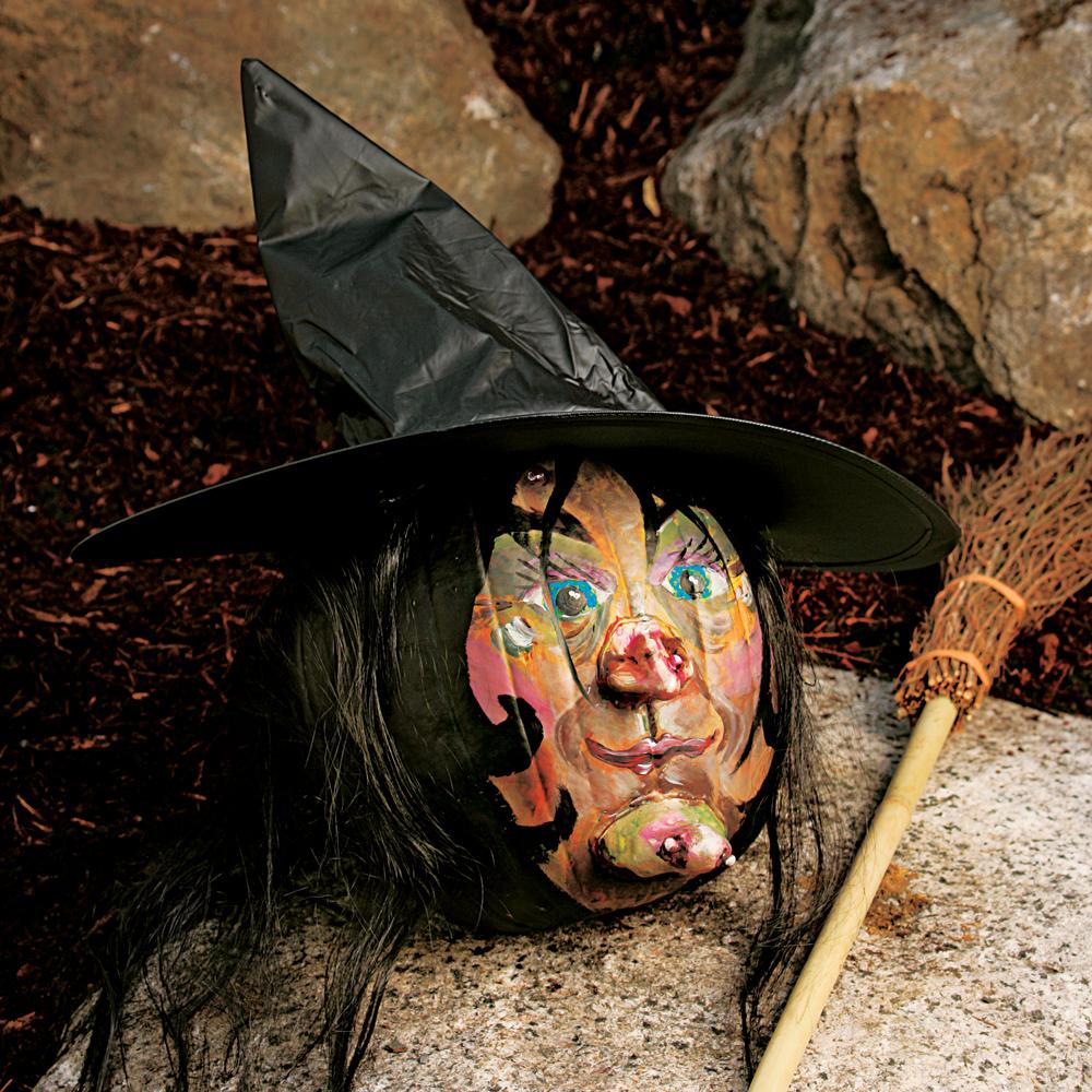 Decoration De Citrouille Peinture : Faire une sorcière avec citrouille plans et patrons