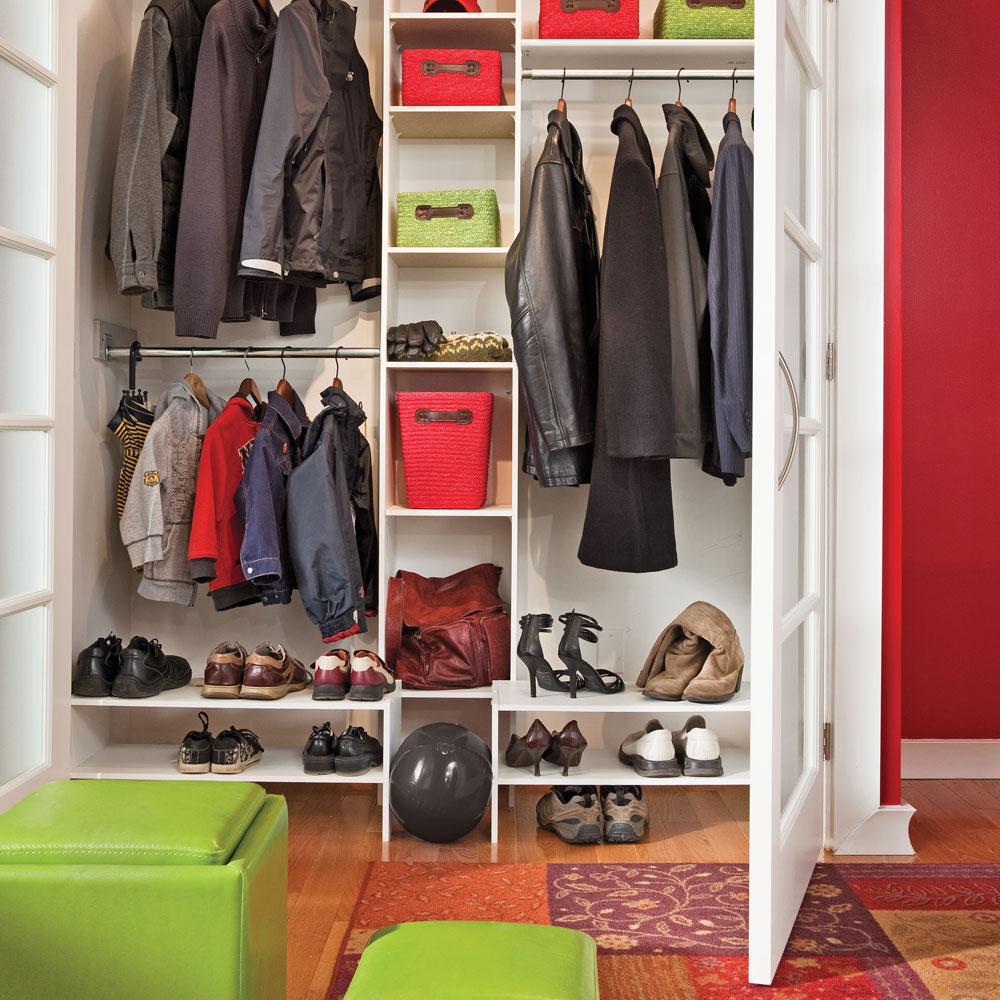 trucs pour bien ranger le hall d 39 entr e trucs et conseils d coration et r novation pratico. Black Bedroom Furniture Sets. Home Design Ideas