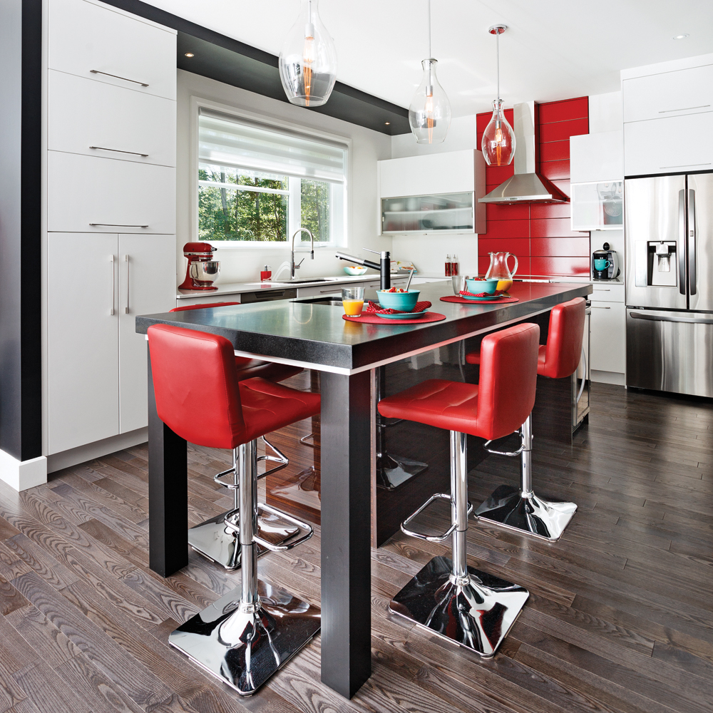 une cuisine pur e et pimpante cuisine inspirations d coration et r novation pratico. Black Bedroom Furniture Sets. Home Design Ideas