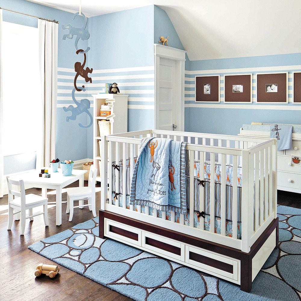 Folies en bleu pour la chambre de b b chambre - Chambre bebe bleu ...