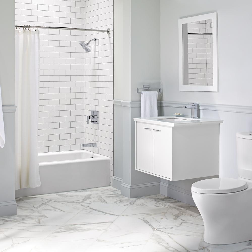 Puret monochrome pour la salle de bain salle de bain for Pour la salle de bain