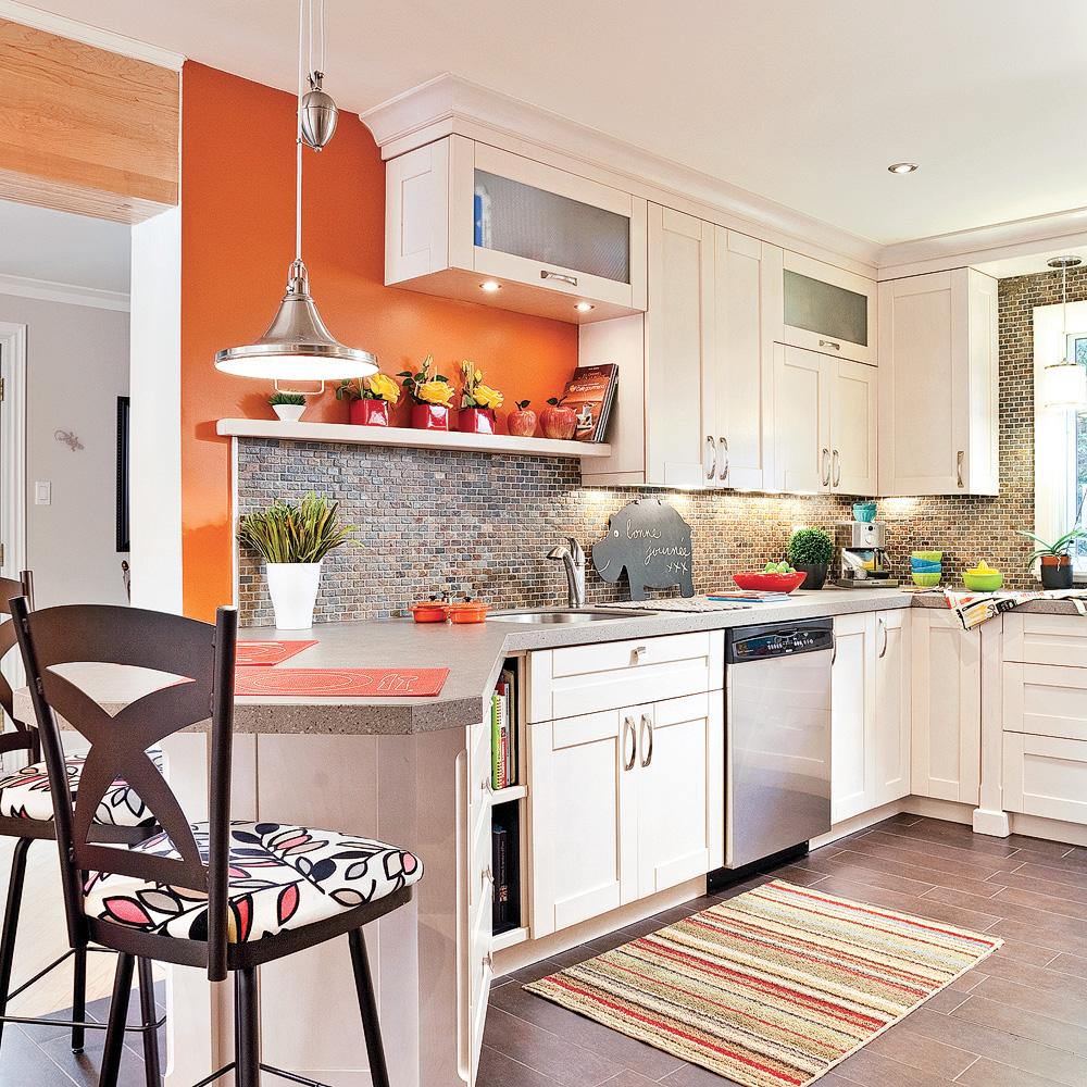 Nouvelle ergonomie dans la cuisine cuisine avant apr s d coration et r novation pratico - Moucheron dans la cuisine ...