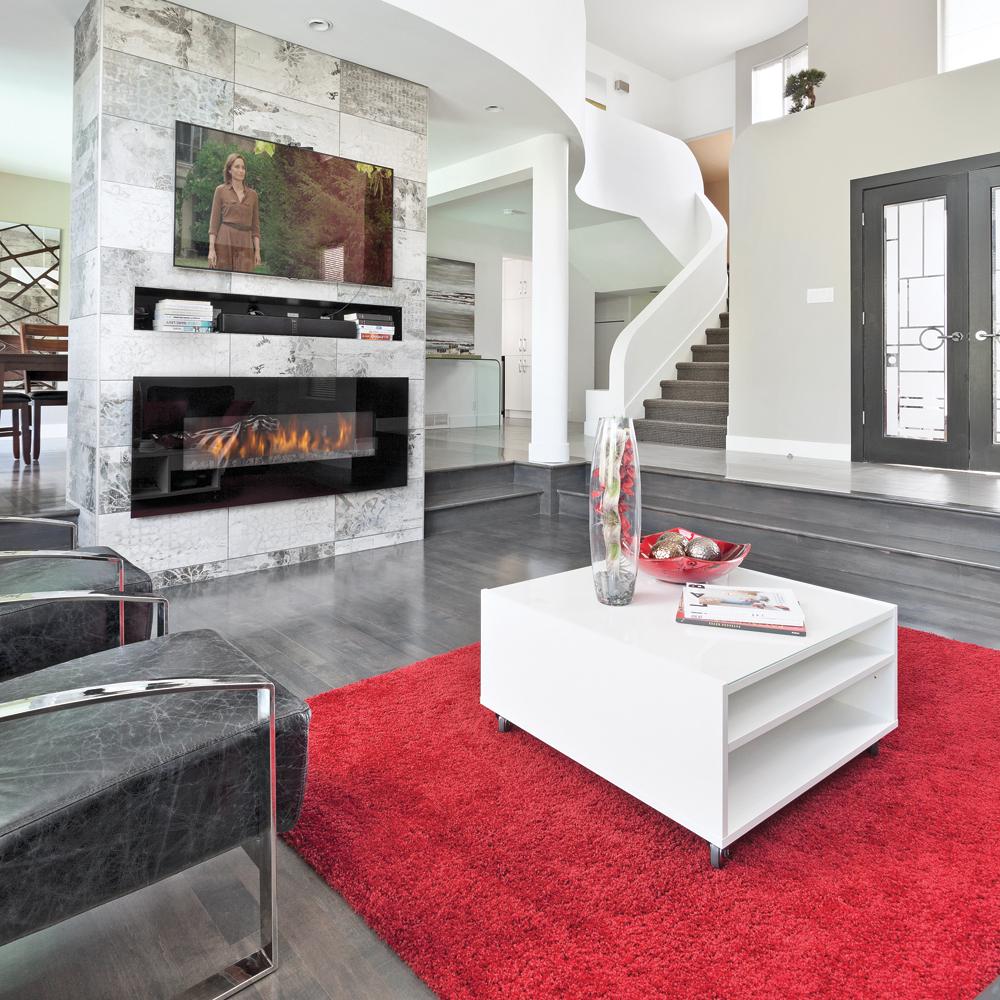 Cloison design pour une aire ouverte - Salon - Inspirations ...