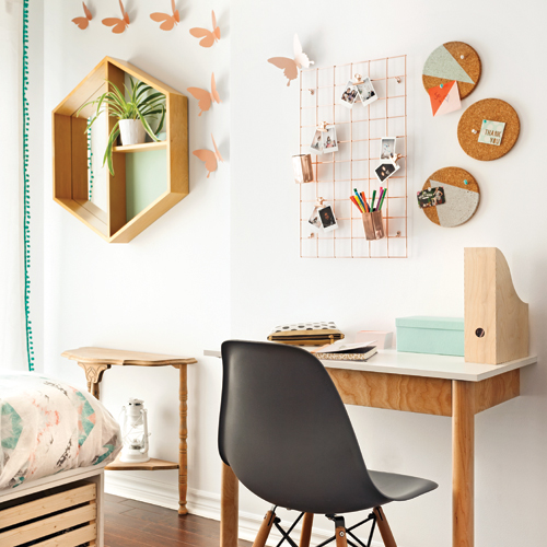 Color blocks graphiques pour la chambre des filles for Chambre a theme liege