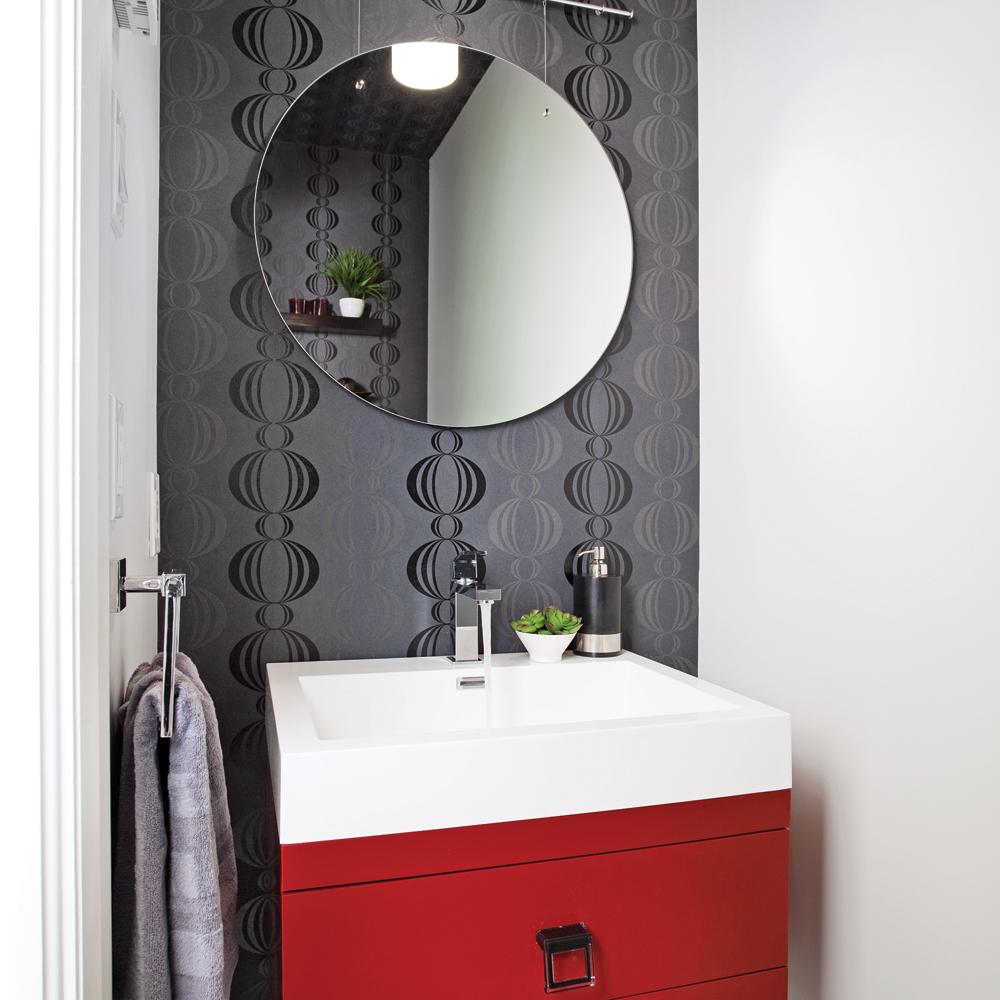 Module color pour salle d 39 eau glamouris e salle de for Papier peint salle d eau