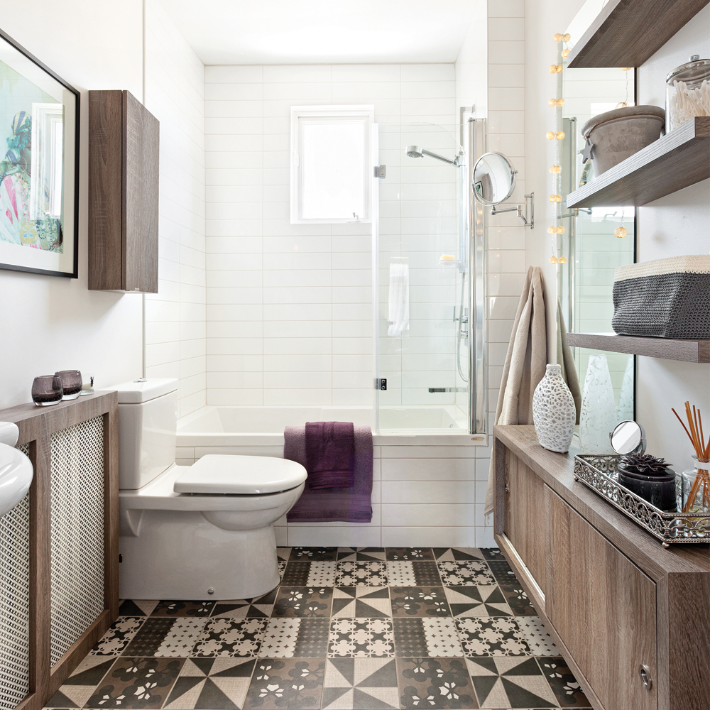Effet de grandeur dans la salle de bain salle de bain - Configuration salle de bain ...