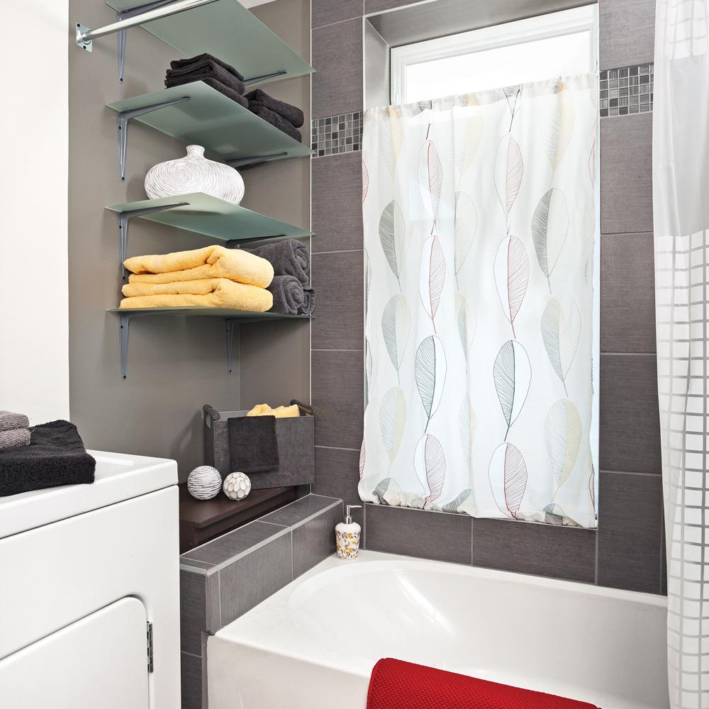 Salle De Bain Sans Fenetre Humidite ~ rideaux sans couture pour la salle de bain en tapes d coration