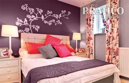 La couleur aubergine pour la chambre - Je Décore