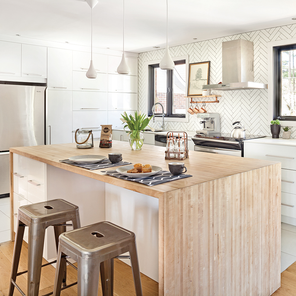 une cuisine l 39 esprit scandinave industriel cuisine inspirations d coration et r novation. Black Bedroom Furniture Sets. Home Design Ideas