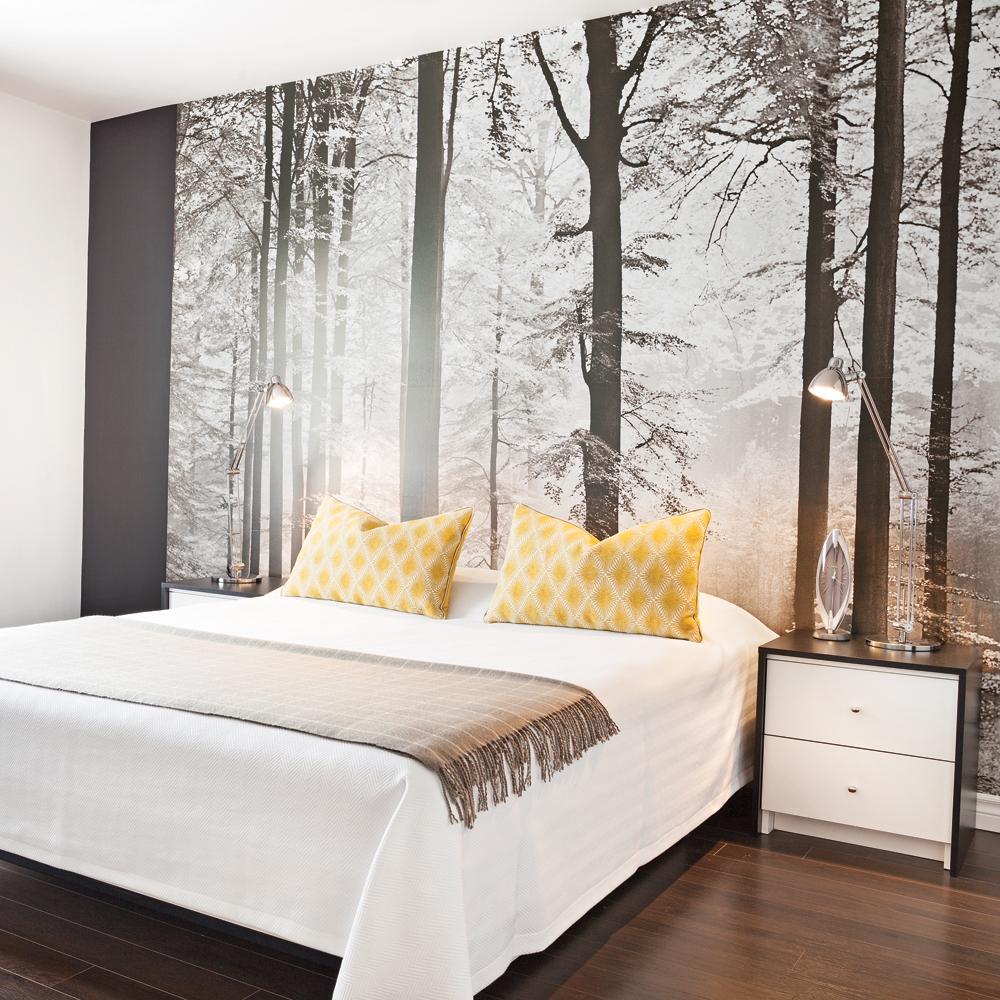 oser la murale grand format dans la chambre chambre inspirations d coration et r novation. Black Bedroom Furniture Sets. Home Design Ideas