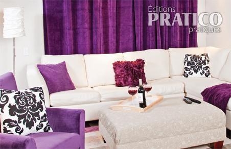 Trendy beautiful deco salon noir blanc violet ideas lalawgroup us with decoration salon noir