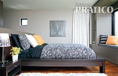 Chambre grise dans un esprit loft chambre inspirations - Chambre a coucher grise ...