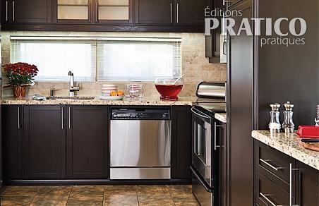 Chocolat chaud pour la cuisine cuisine avant apr s for Peinture d armoire de cuisine