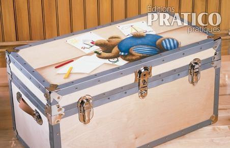 Coffre a jouet a peindre elegant le coffre jouets ides - Coffre a jouets en bois brut a peindre ...