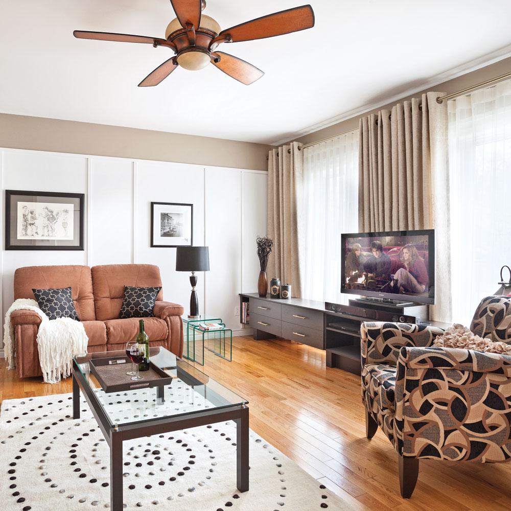 fonctionnalit accrue salon avant apr s d coration et r novation pratico pratique. Black Bedroom Furniture Sets. Home Design Ideas