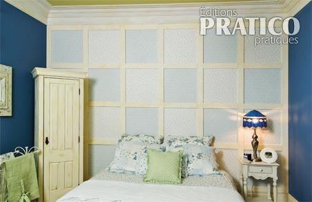 un mur en patchwork dans la chambre chambre avant apr s d coration et r novation pratico. Black Bedroom Furniture Sets. Home Design Ideas
