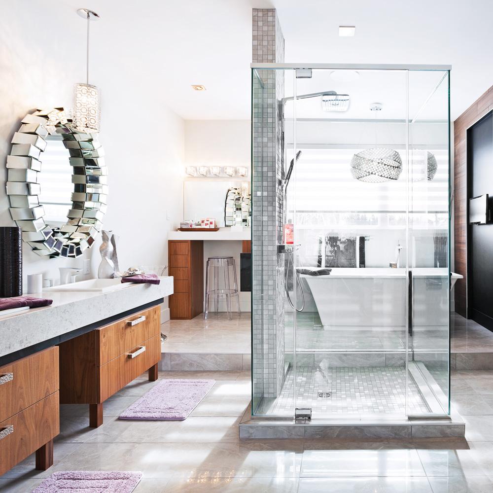 La douche comme centre d 39 int r t dans la salle de bain - Je decore salle de bain ...