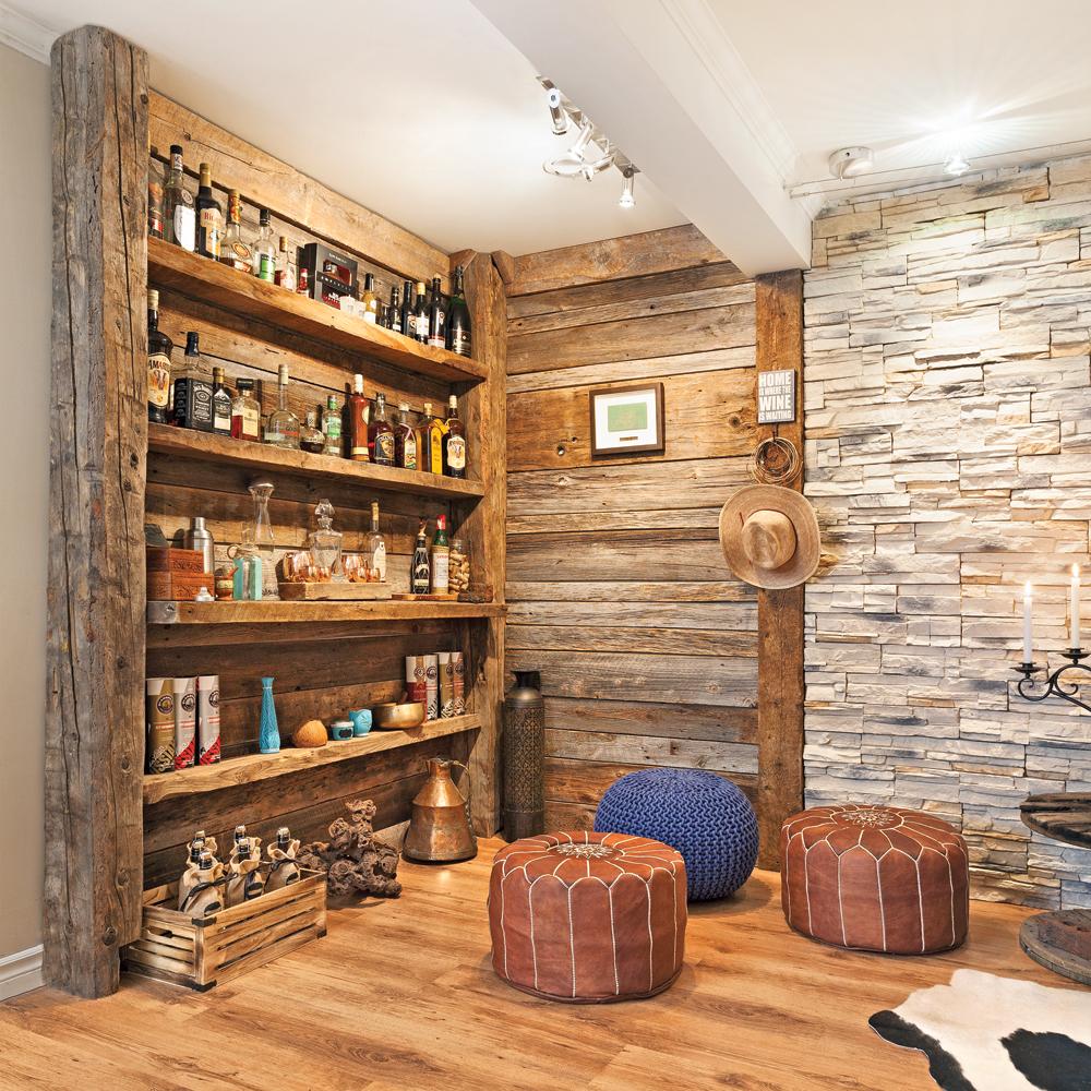 Transfo Moins De 500 Coin Bar En Bois De Grange Salon  # Plancher De Grange Ancien