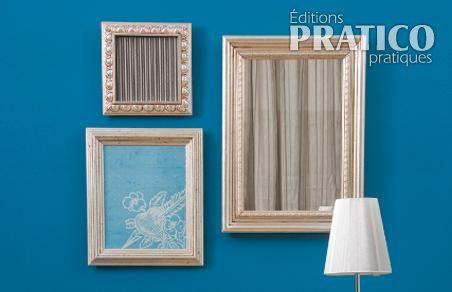 Fabriquer un cadre avec des moulures en tapes for Fabriquer un cadre photo en bois flotte