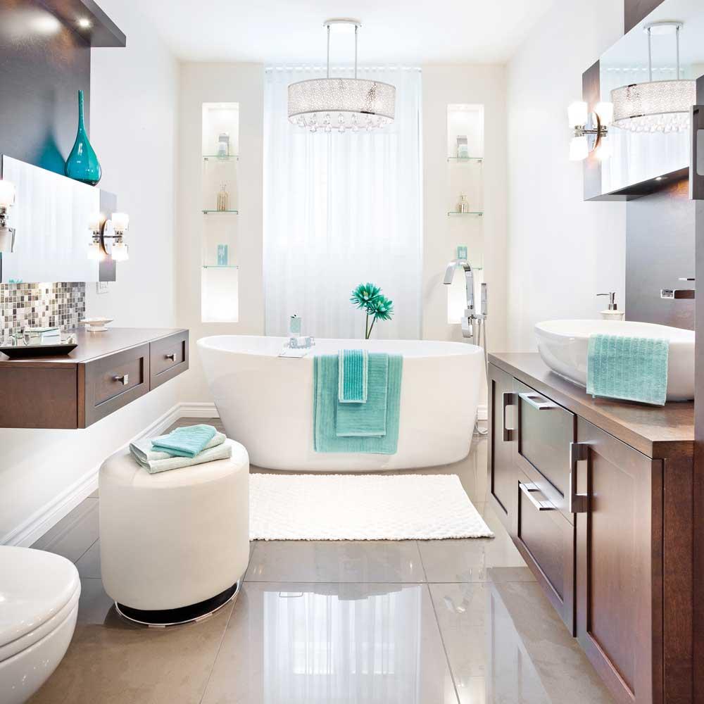 Miroitante c ramique pour la salle de bain salle de bain for Carreaux ceramique salle de bain