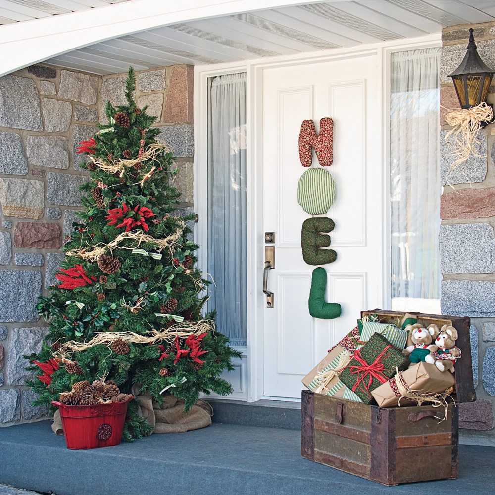 No l au cachet d 39 antan inspirations d coration et r novation pratico pratique - Decoration de noel exterieur ...