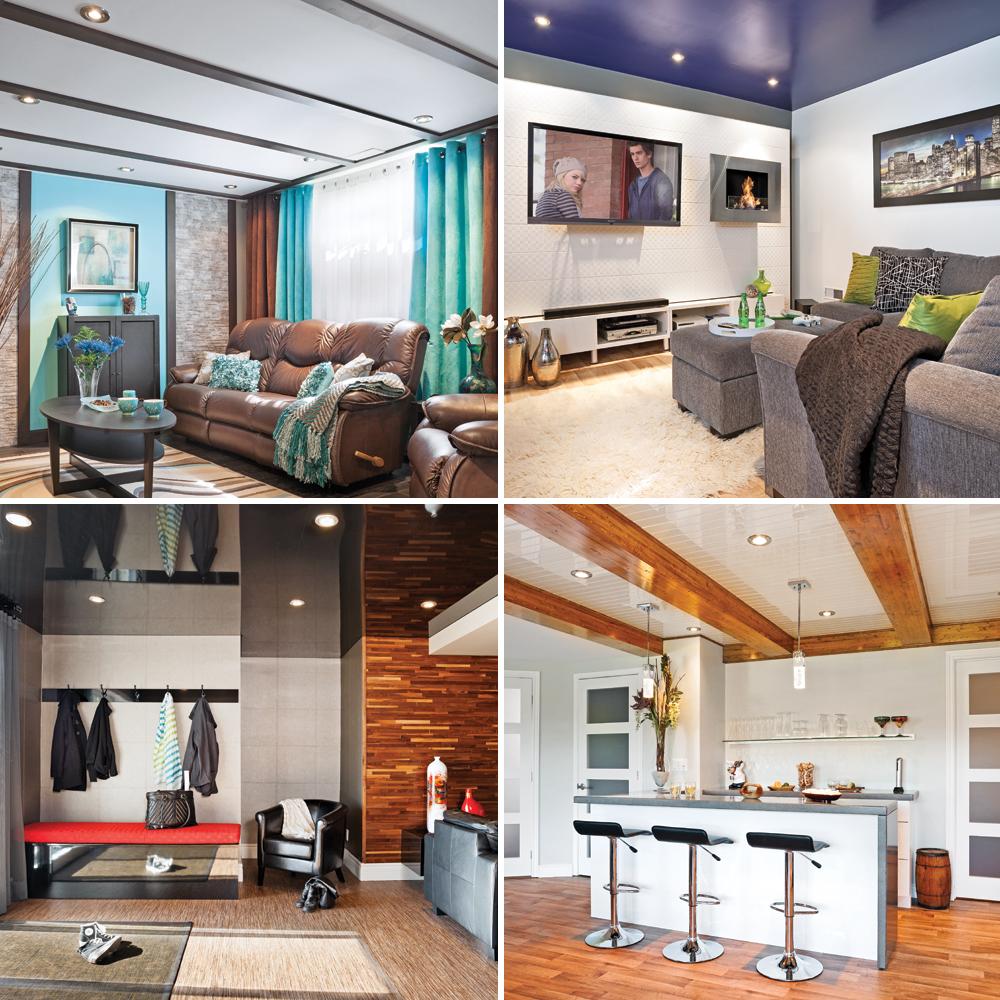 sous sol 5 plafonds plein de style sous sol inspirations d coration et r novation. Black Bedroom Furniture Sets. Home Design Ideas
