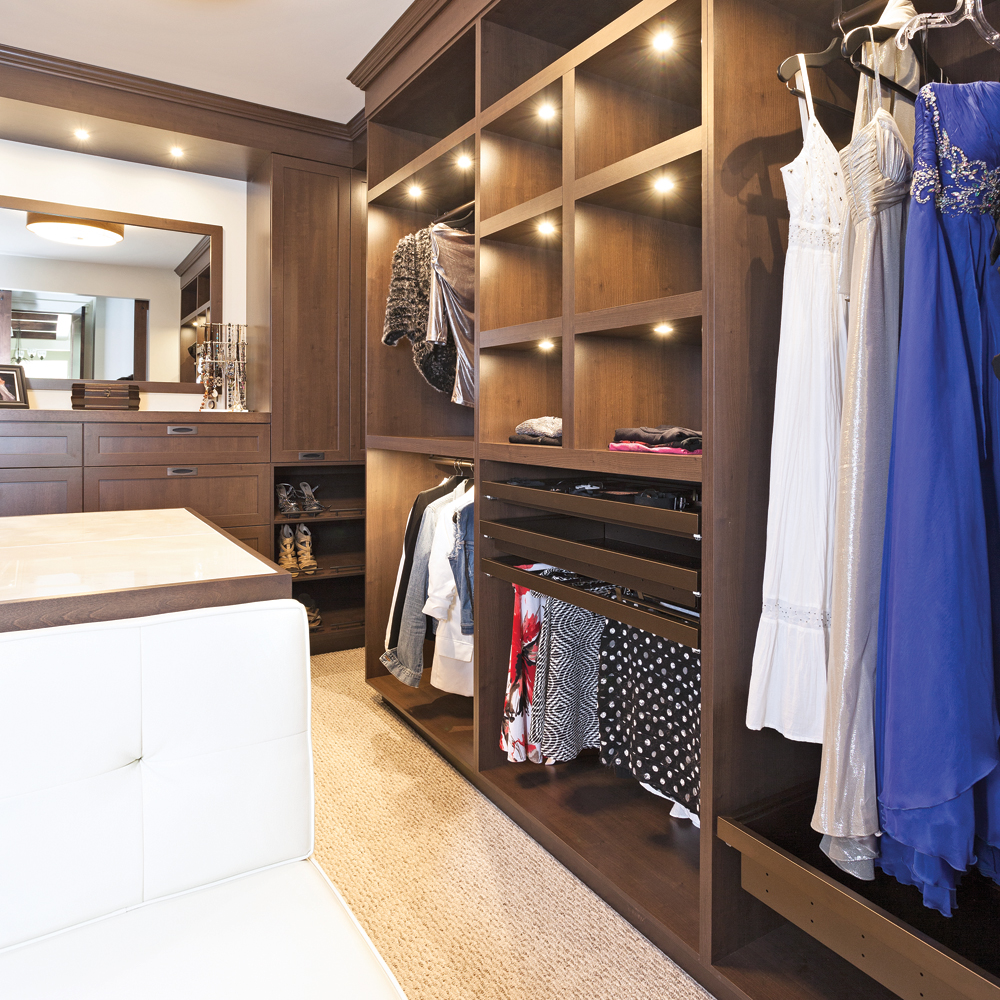 Walk in simplement glam chambre inspirations for Chambre walk in