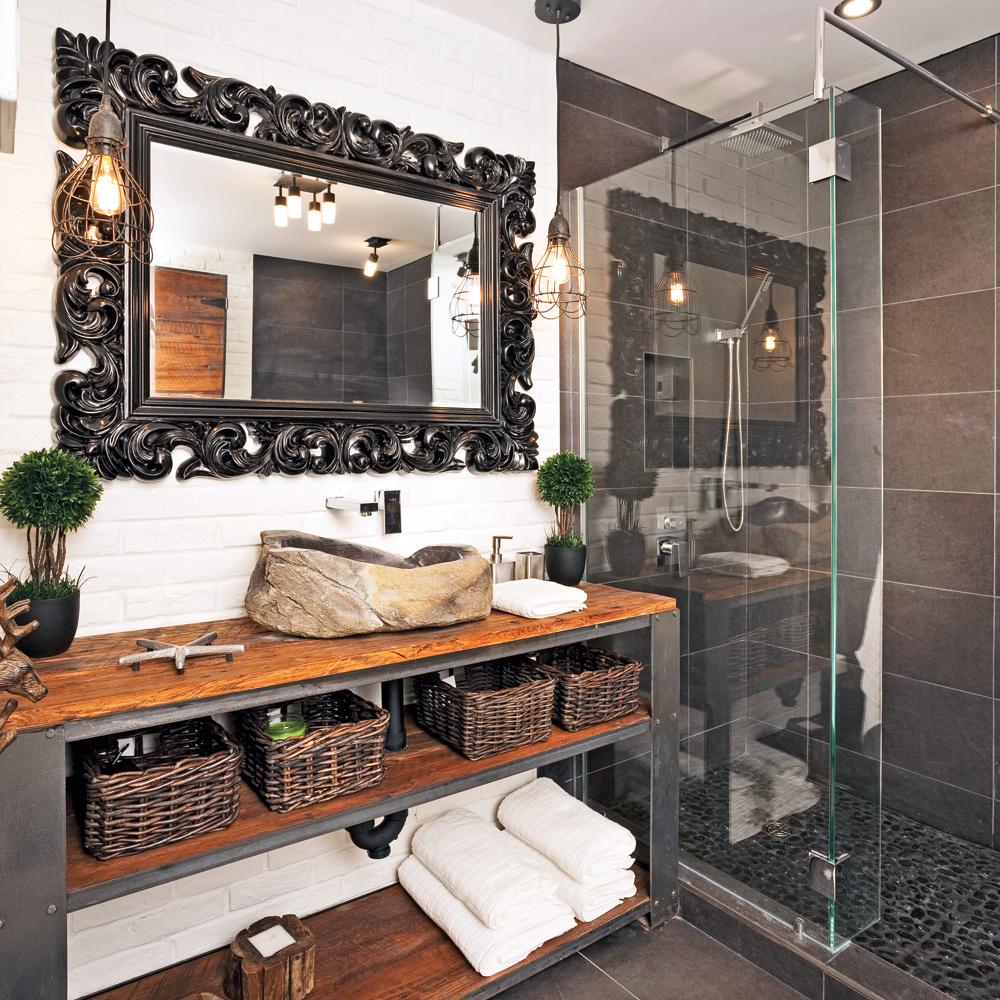 Une salle de bain au look vintage industriel salle de Deco salle de bain retro