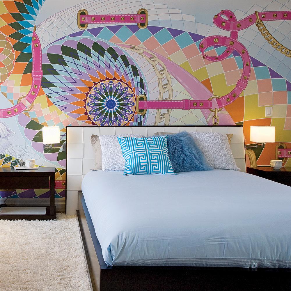 chambre glamour aux airs de haute couture chambre inspirations d coration et r novation. Black Bedroom Furniture Sets. Home Design Ideas