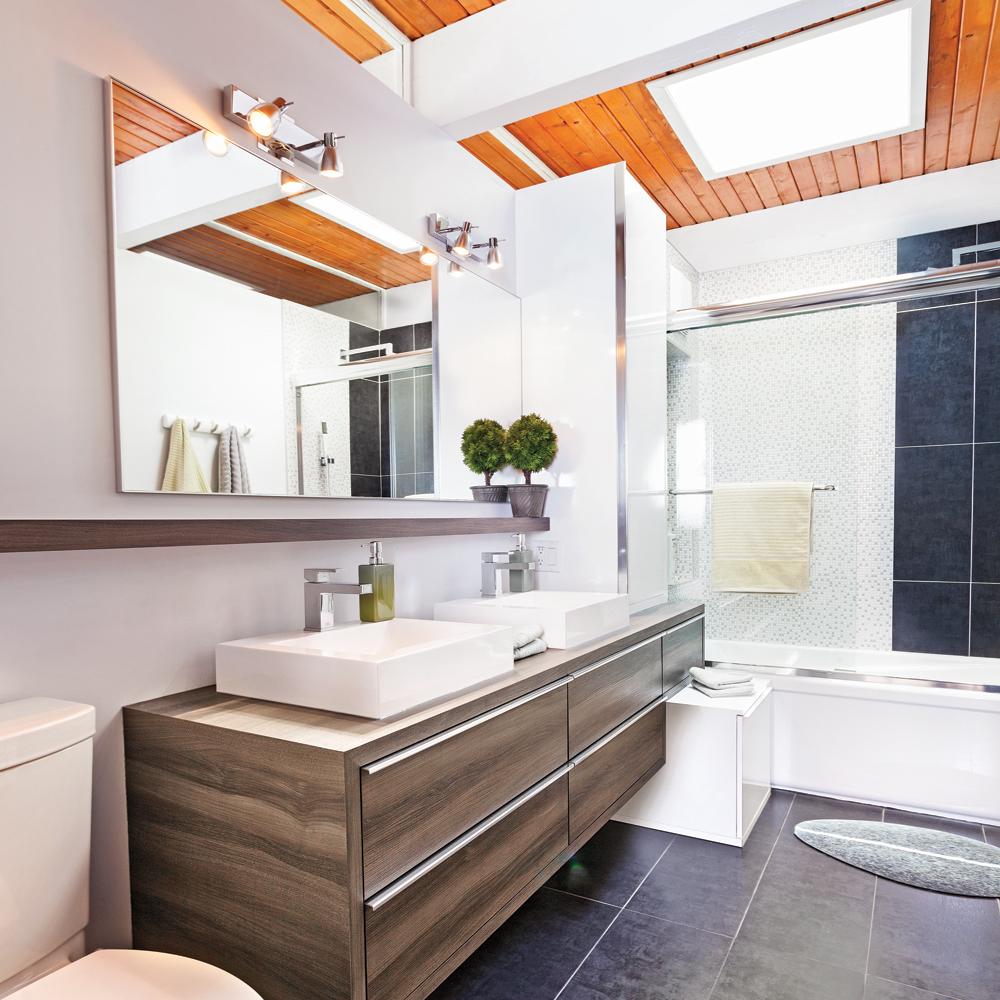 Salle De Bain Lumineuse Design ~ chaleur rayonnante dans la salle de bain salle de bain avant