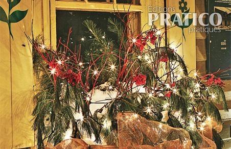 Bo te fleurs lumineuse pour no l inspirations for Decorations exterieures de noel
