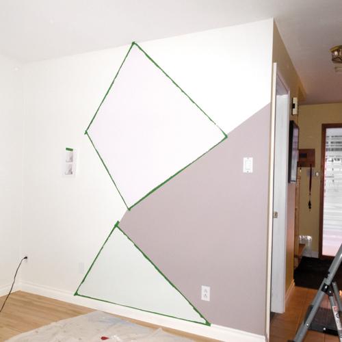 En Etapes Creer Une Murale Geometrique Je Decore