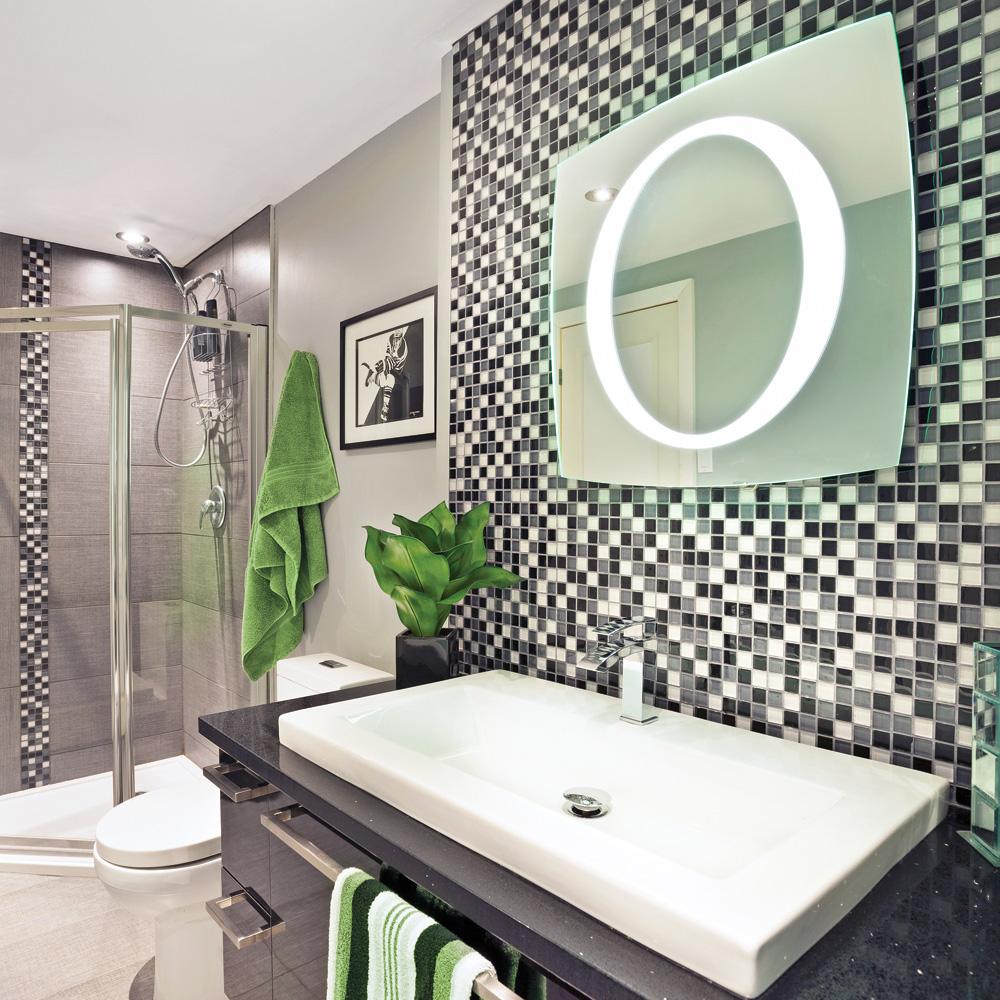 Miroir clair salle de bain meuble de salle de bain vasque for Ensemble meuble de salle de bain miroir couleur olme gris