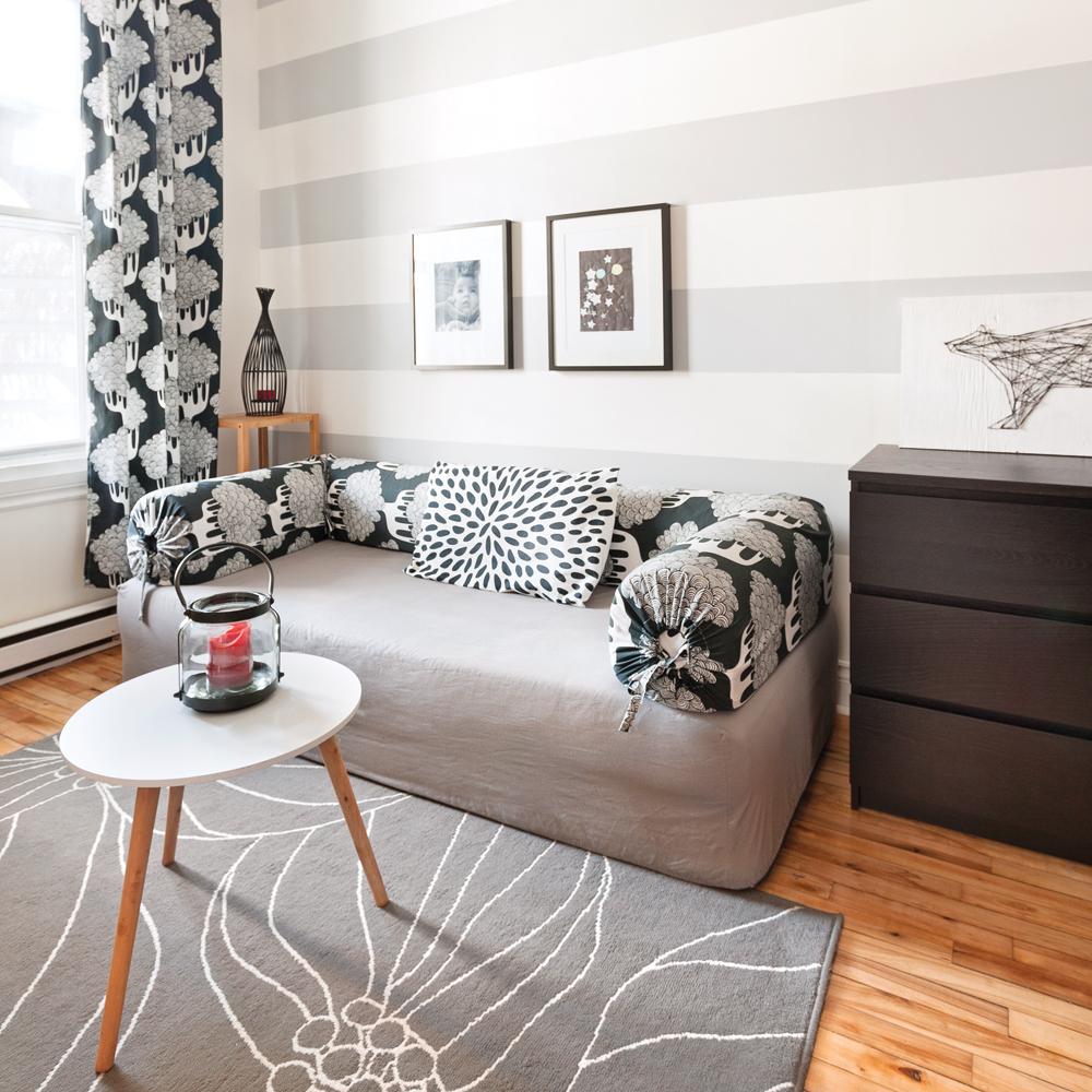 avant apr s un boudoir branch peu de frais salon avant apr s d coration et r novation. Black Bedroom Furniture Sets. Home Design Ideas