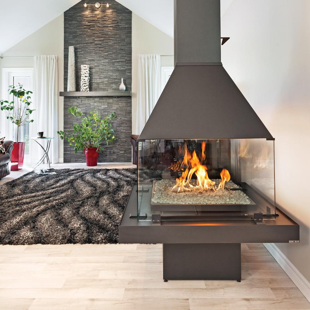 Chaleur sur 360 pour une aire ouverte salon for Decoration cuisine et salon aire ouverte