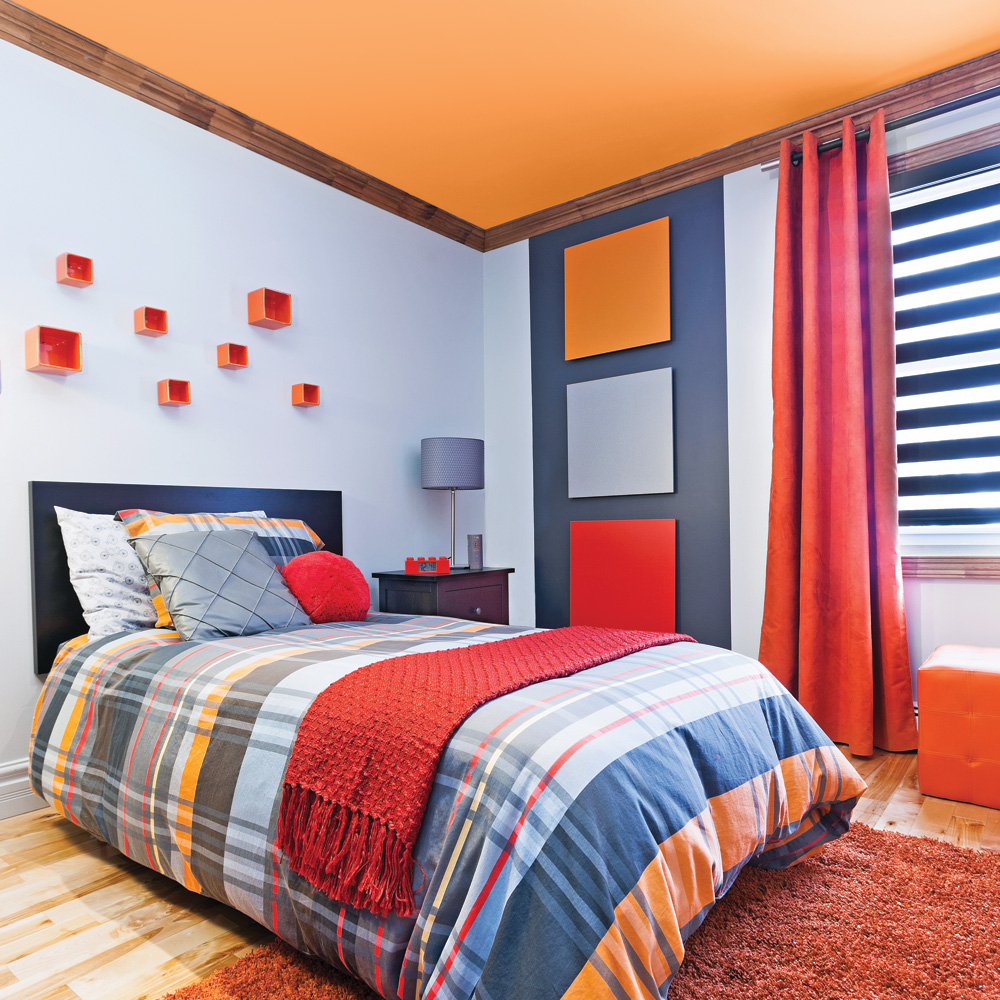 deco chambre orange great deco chambre orange pour indogate chambre orange et marron with deco. Black Bedroom Furniture Sets. Home Design Ideas