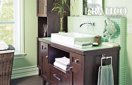Une salle de bain contemporaine salle de bain - Decoration salle de bain contemporaine ...