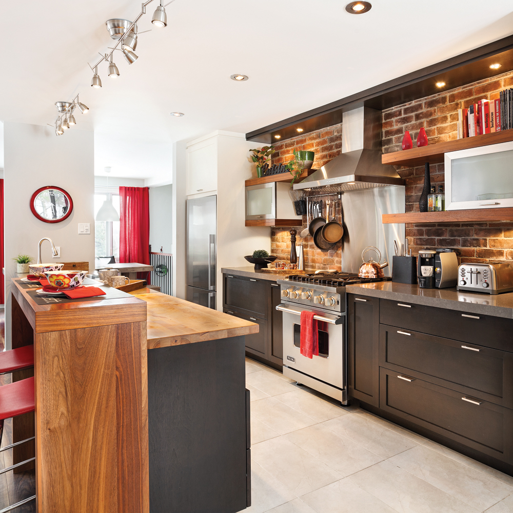 Une cuisine comme au bistro cuisine avant apr s for Deco de cuisine style bistro