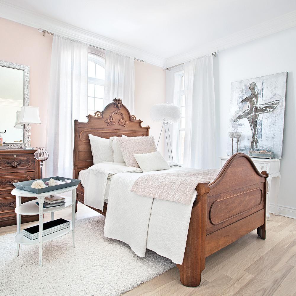 Chambre f minine tout en fra cheur et l g ret chambre for Decoration chambre 0 coucher