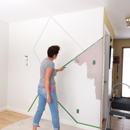 En étapes Créer Une Murale Géométrique Je Décore