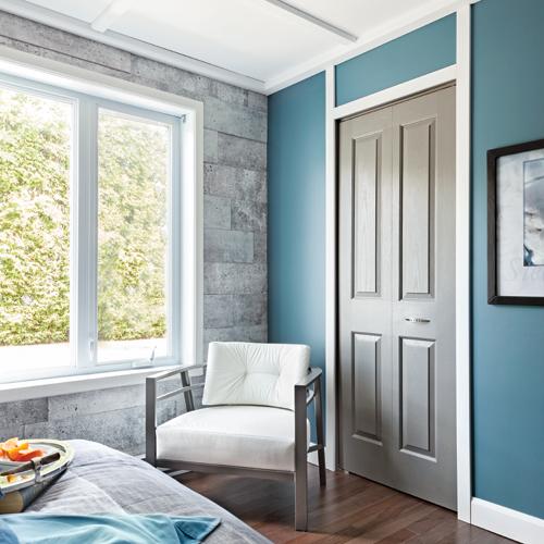 un m lange de blanc et b ton pour la chambre chambre inspirations d coration et r novation. Black Bedroom Furniture Sets. Home Design Ideas