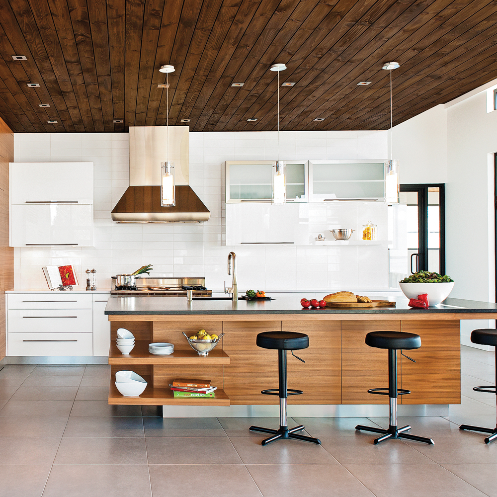 cuisine contemporaine et conviviale cuisine. Black Bedroom Furniture Sets. Home Design Ideas
