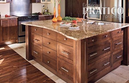 la cuisine conviviale cuisine inspirations d coration et r novation pratico pratique. Black Bedroom Furniture Sets. Home Design Ideas