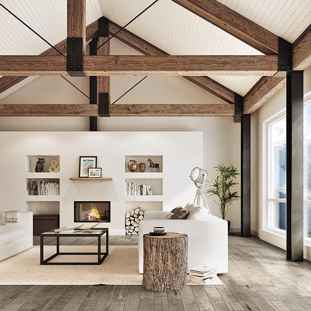 le m lange bois et blanc la scandinave inspirations. Black Bedroom Furniture Sets. Home Design Ideas