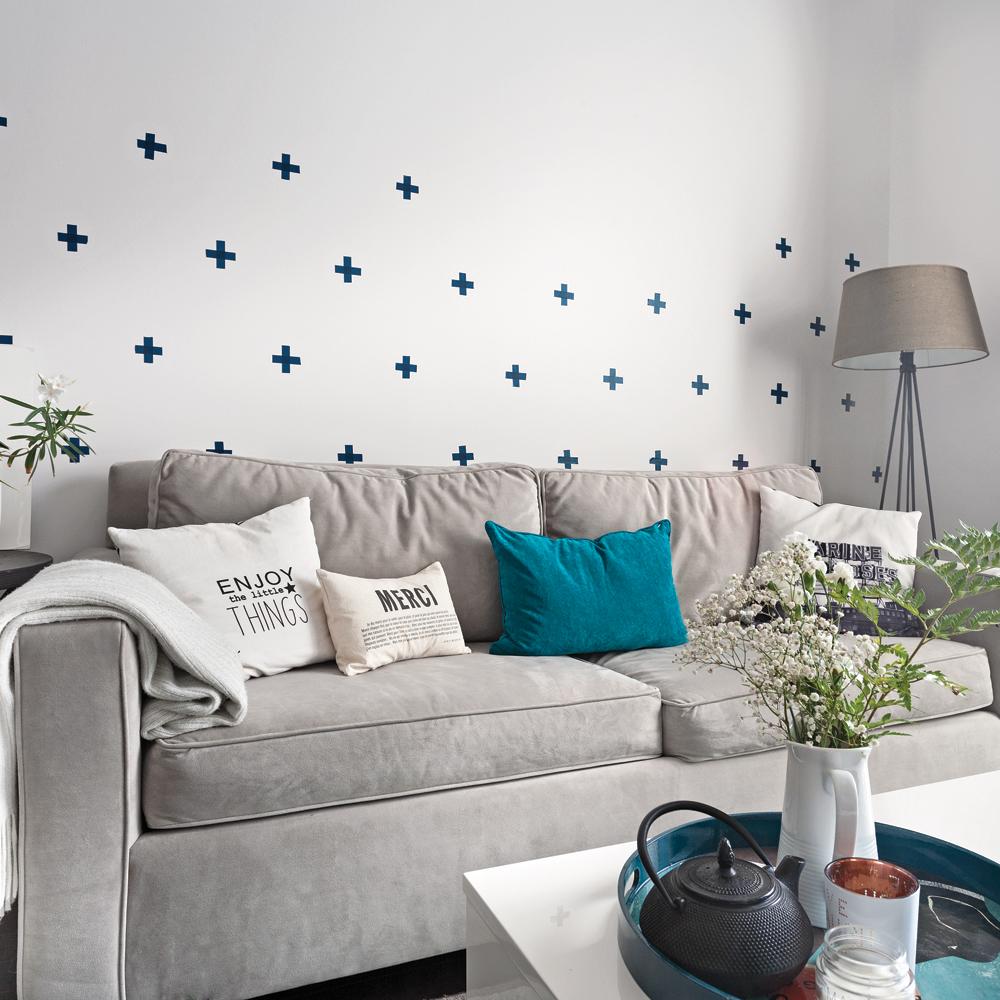 diy effet papier peint salon inspirations d coration et r novation pratico pratique. Black Bedroom Furniture Sets. Home Design Ideas