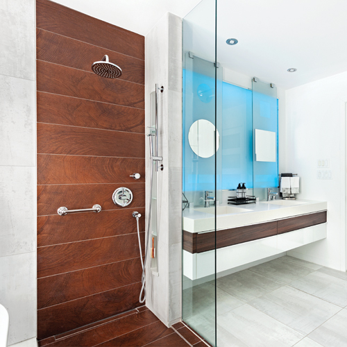 illusion d 39 optique dans la salle de bain je d core. Black Bedroom Furniture Sets. Home Design Ideas