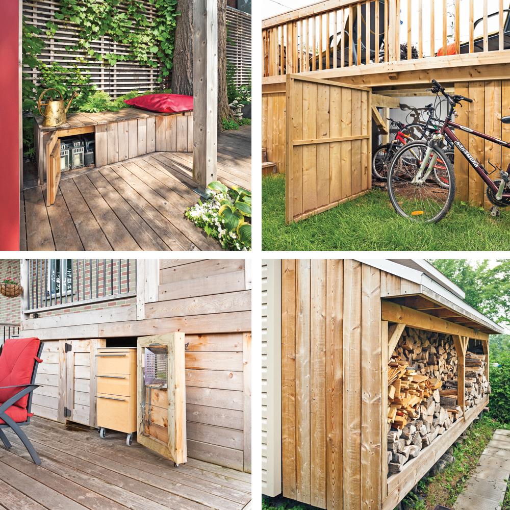5 ing nieux rangements en bois pour la cour trucs et. Black Bedroom Furniture Sets. Home Design Ideas